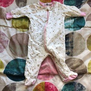 0-3 Months Girl's Onesie Pajama